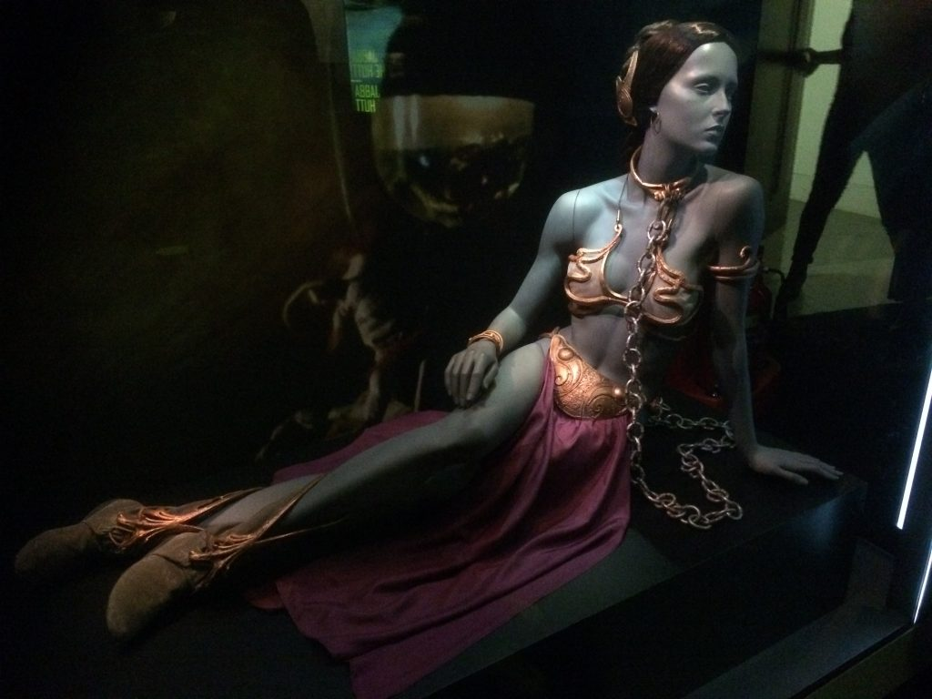 princess leia metal bikini costume from return of the jedi